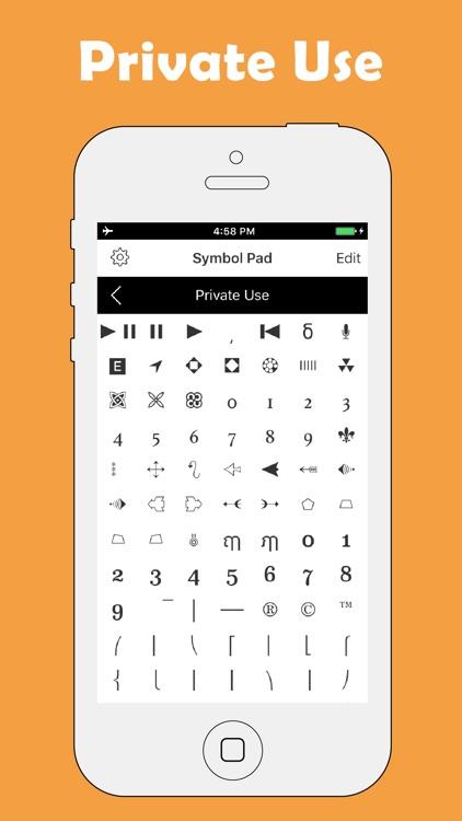 Symbol Keyboard-Character Pad screenshot-3