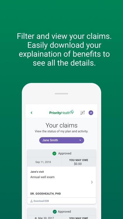 Priority Health Member Portal screenshot-3