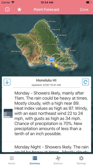 Wind Speed Forecast App screenshot 2
