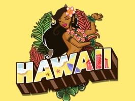 Hawaii Aloha Luau Stickers