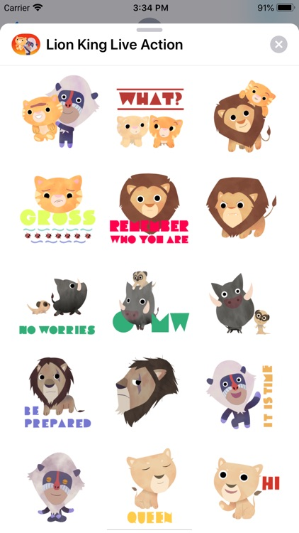 The Lion King Stickers