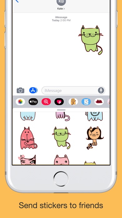 Cute cats - hand drawn emoji screenshot 4