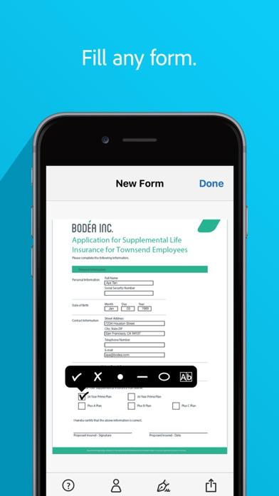 Adobe Fill & Sign - Doc Filler App Report on Mobile Action