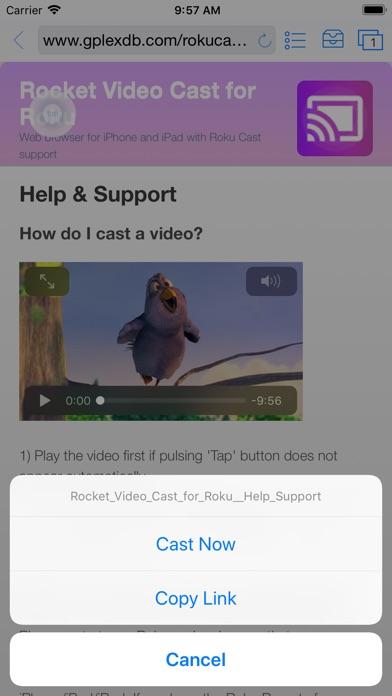 Rocket - Video Cast for Roku Screenshots