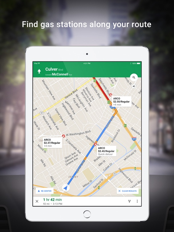 iPad Image of Google Maps - Transit & Food