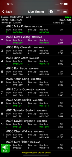 ‎Race Monitor Screenshot