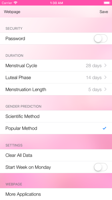 Menstrual Cycle TrackerScreenshot of 5