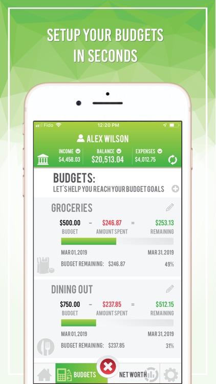 Budget App - Net Worth screenshot-3