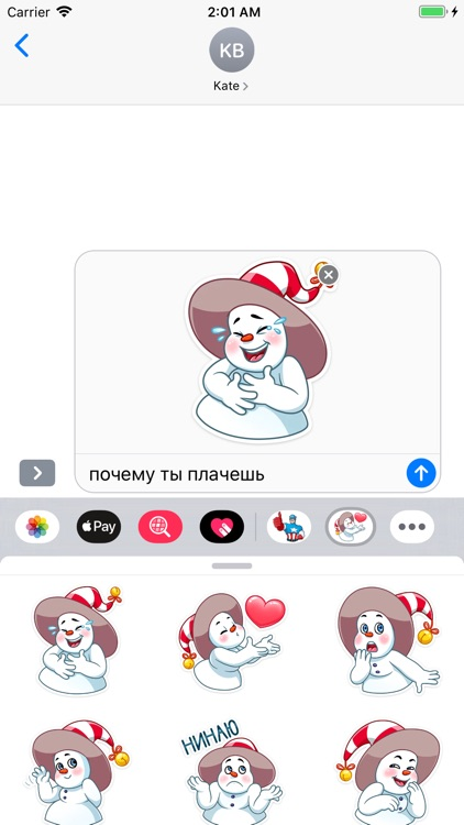 The Smiley Snowman Stickers