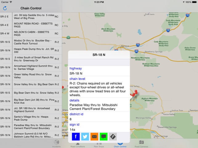 California Road Report on the App Store on