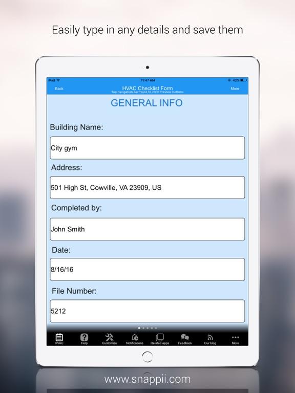 HVAC Inspection Checklist | App Price Drops