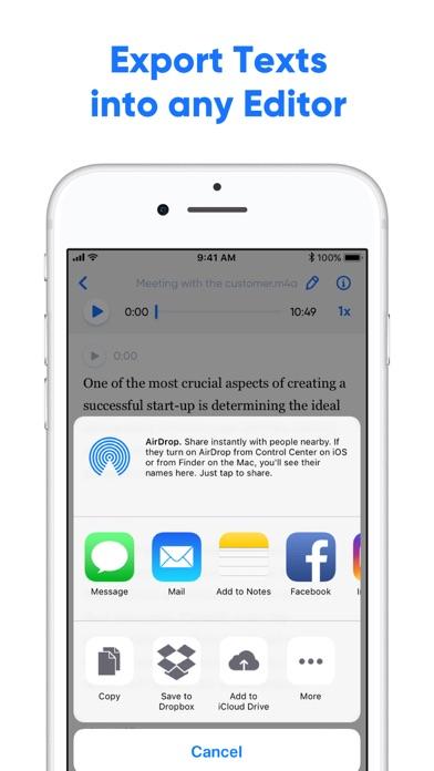 Transcribe - Speech to Text screenshot three