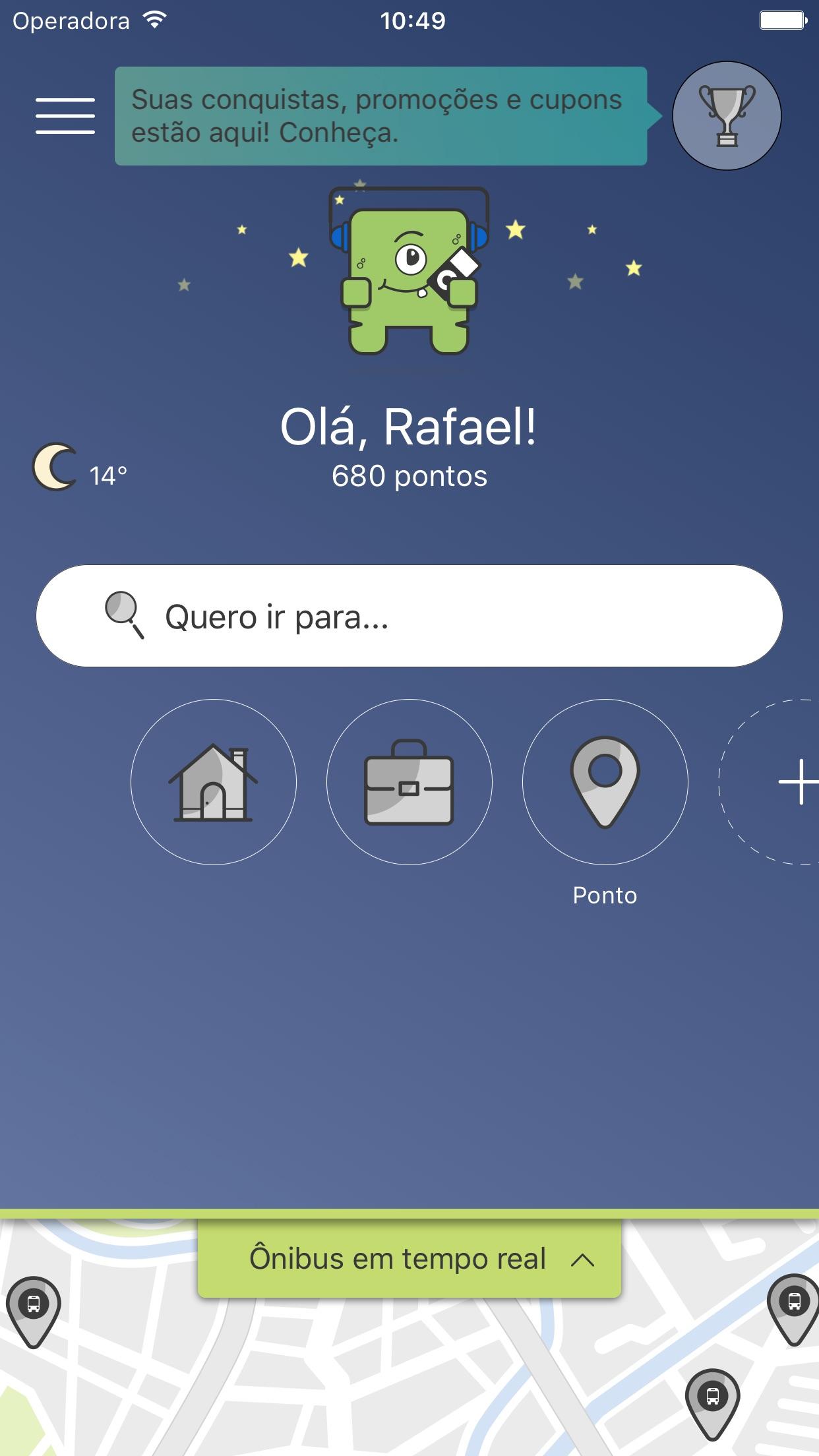 Screenshot do app Leve-me: Mobilidade urbana