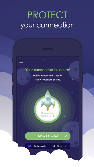 Starship VPN - Fast & Secure Screenshot