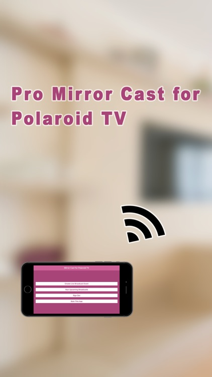 Pro Mirror Cast 4 Polaroid TV