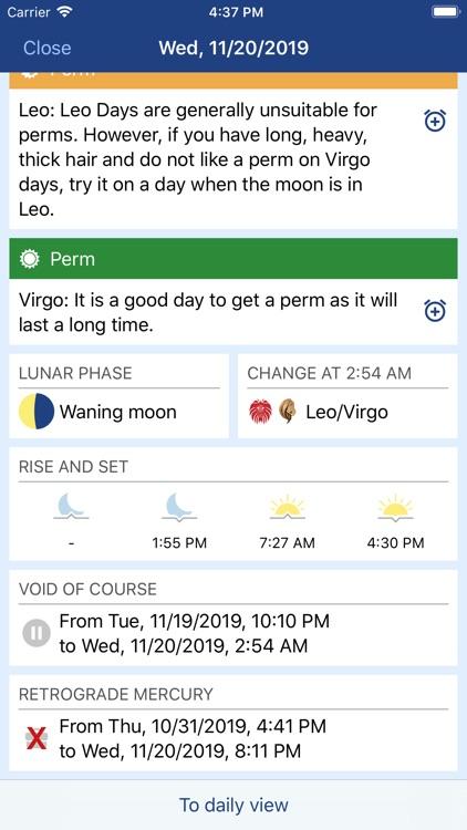 MoonWorx Lunar Calendar screenshot-4