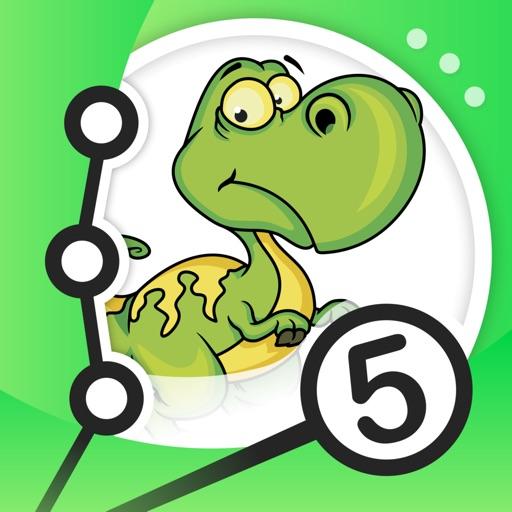 Соедините точки - Динозавры