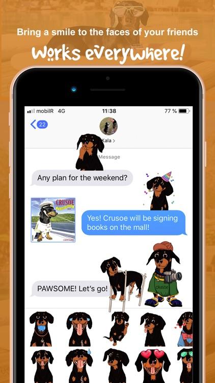 CrusoeMoji - Dachshund sticker screenshot-5