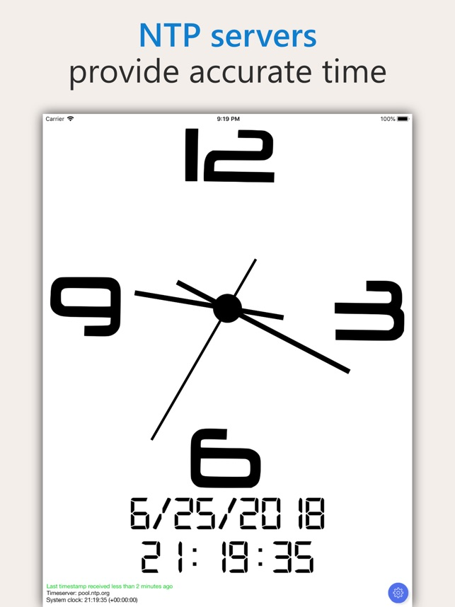 AtomicClock — NTP Time on the App Store