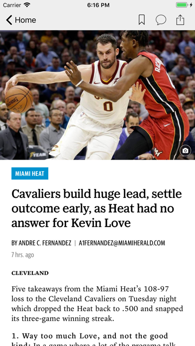 News for Heat Basketball screenshot two
