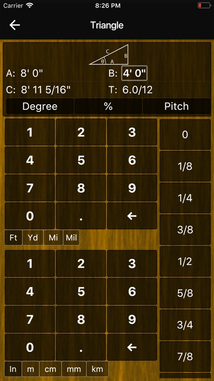 Feet Inches Construction Calc screenshot-6