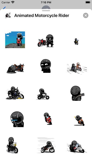 Animated Motorcycle Rider screenshot 4