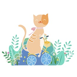 Summer colorful cat
