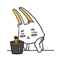 忙碌的兔子-炫酷贴纸