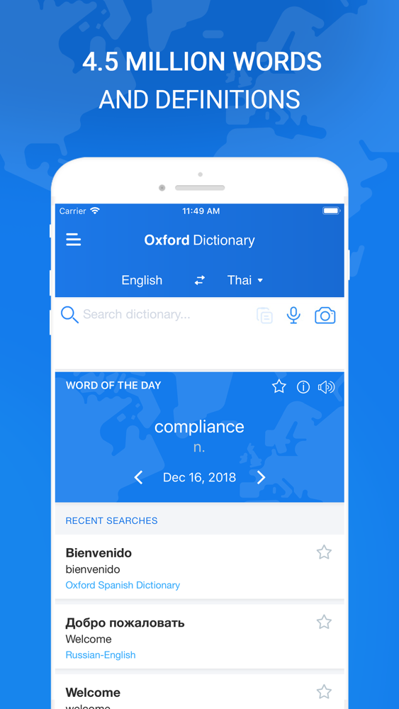 Oxford Dictionary & Translator App for iPhone - Free Download Oxford