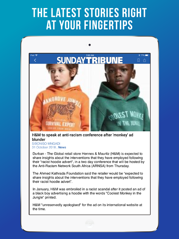 iPad Image of Sunday Tribune SA
