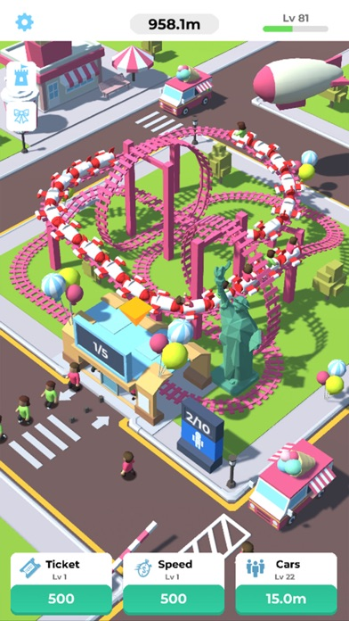 Idle Roller Coaster screenshot 1