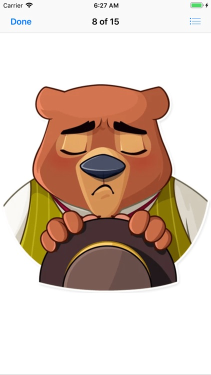 Todd Bear Moods For iMessages screenshot-7