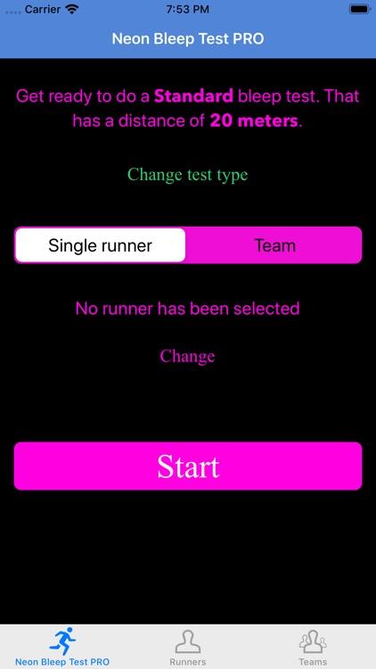 Neon Bleep Test PRO