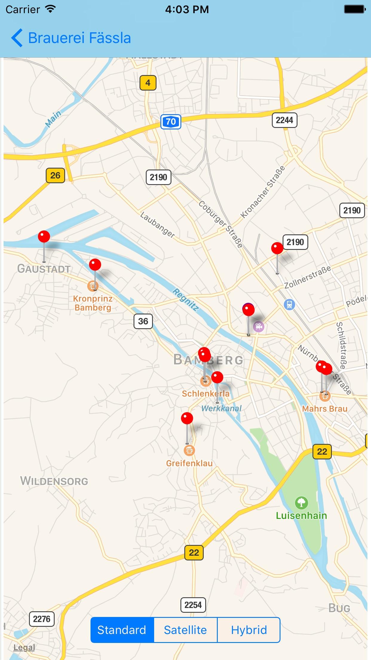 Bamberg Beer Guide Screenshot