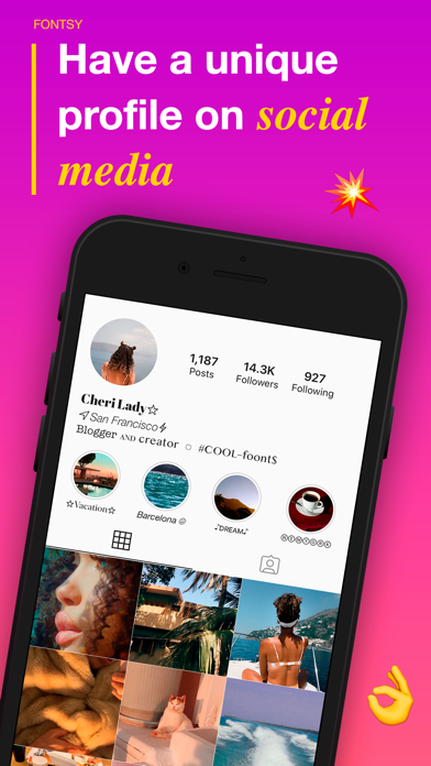 Fonts for social networks Screenshot