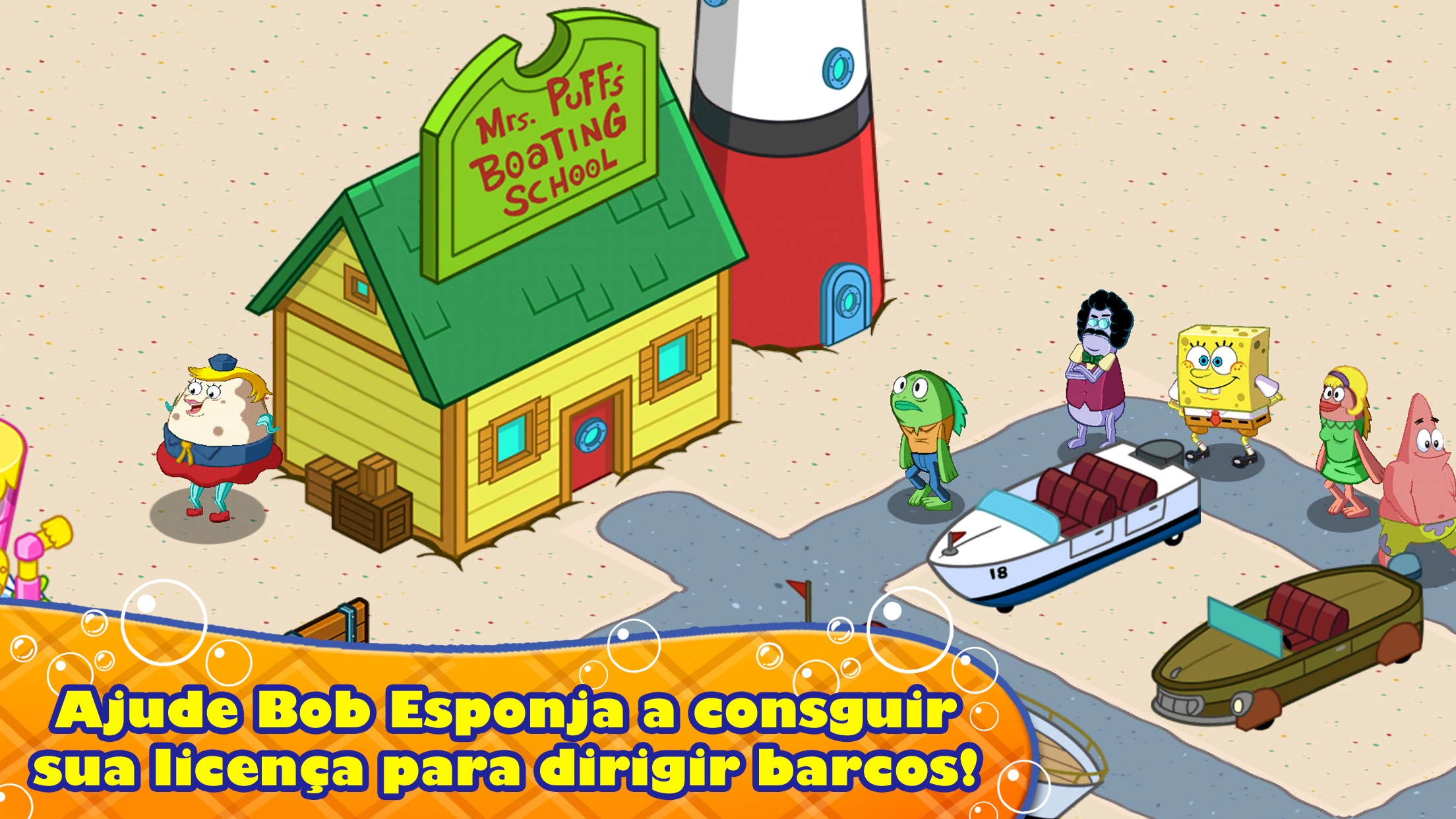 Screenshot do app Bob Esponja – Dono do Pedaço