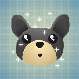 Sticker Me: Black Dog Faces