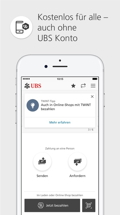 UBS TWINT: Mobile Payment App screenshot-0