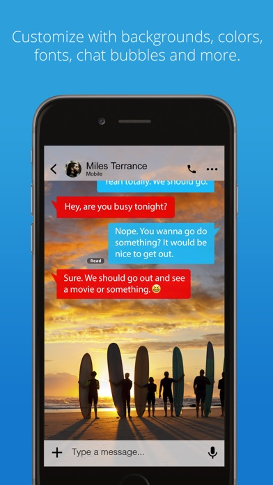 Screenshot for Message+ in United States App Store