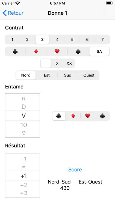 IMP Scoring Card Screenshot
