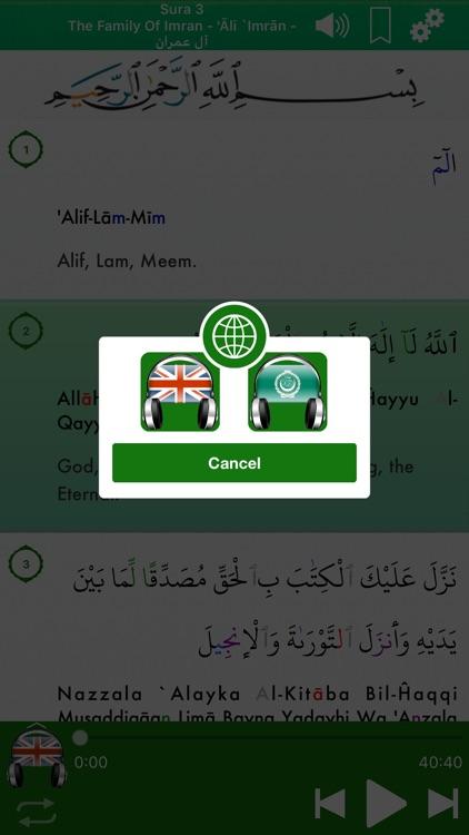 Quran Audio mp3 in English screenshot-3