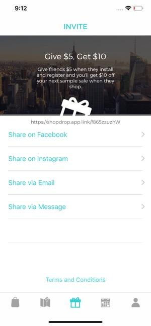 03019ed0022723  ShopDrop Sample Sales on the App Store