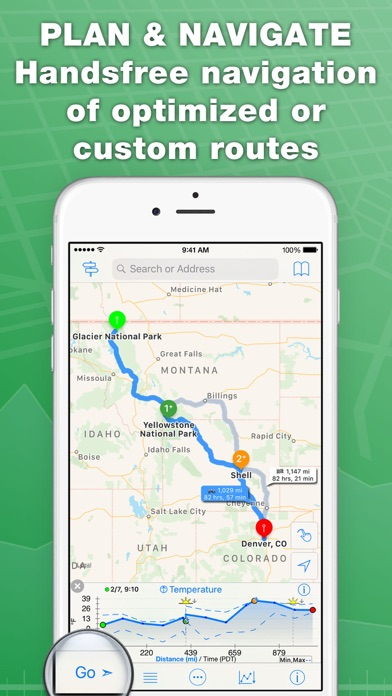 Screenshot for inRoute Route Planner in United States App Store