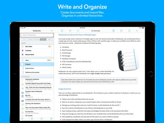 Notebooks - Write and Organize Screenshots