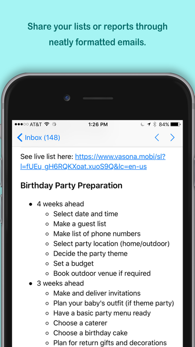 Create My List screenshot two