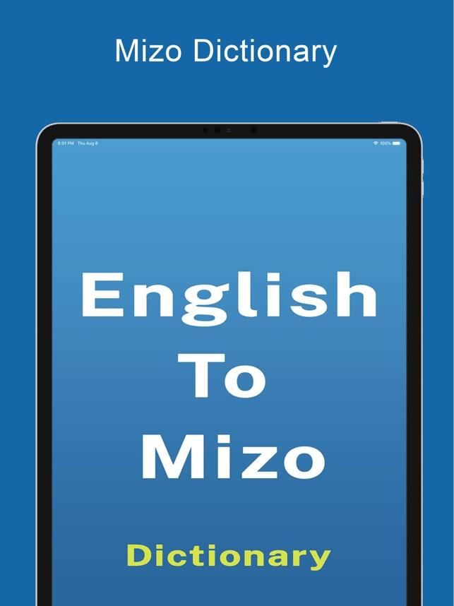 Mizo Dictionary & Translator on the App Store