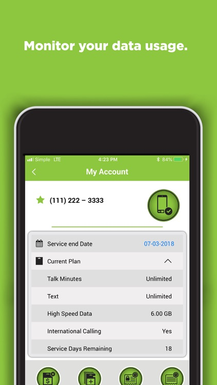 SIMPLE Mobile My Account screenshot-4