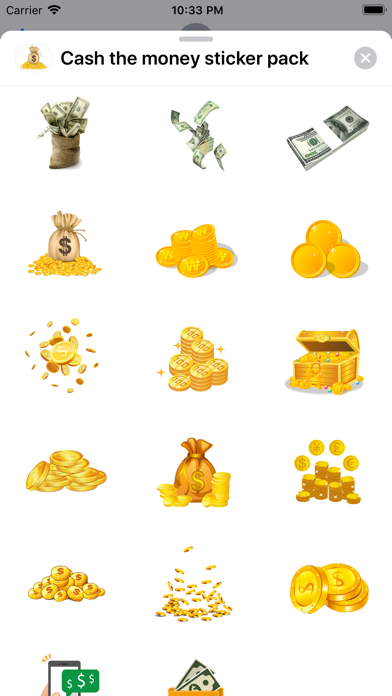 Screenshot #3 pour Cash the money sticker pack
