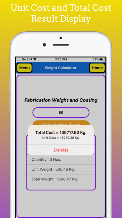 Fabrication Weight Calc Pro screenshot 6