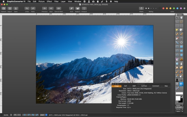 GraphicConverter 11.1.3 Adds More New Image Editing Features Image